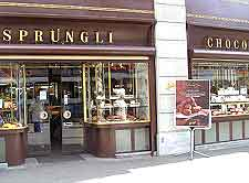 Photo of the Sprungli Swiss chocolate shop