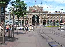 Photo of the city's central train station