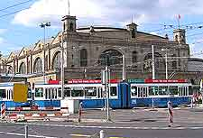 Picture showing tram in the city centre