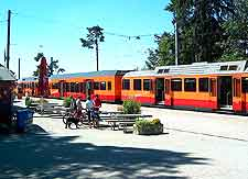 Image of the Sihltal Zurich Uetliberg Bahn train